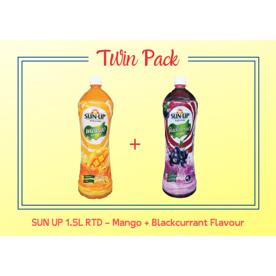 Promo Pack Sun Up 1.5L RTD (Mango and Blackcurrant Flavour)
