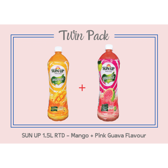 Promo Pack Sun Up 1.5L RTD (Mango And Pink Guava Flavour)