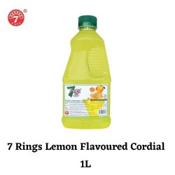 7 Rings 1L- Lemon Flavoured Cordial