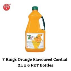 6 Bottles 7 Rings 2L Orange Flavoured Cordial