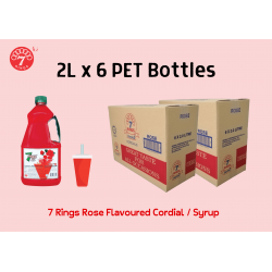 6 Bottles 7 Rings 2L Rose Flavoured Cordial