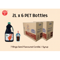 6 Bottles 7 Rings 2L Sarsi Flavoured Cordial