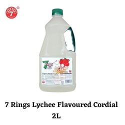 7 Rings 2L Lychee Flavoured Cordial
