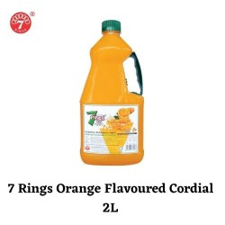 7 Rings 2L Orange Flavoured Cordial