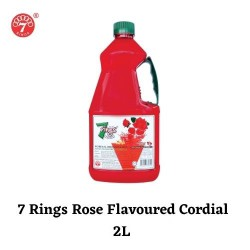 7 Rings 2L Rose Flavoured Cordial