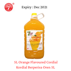 7 Rings 5L Orange Flavoured Cordial