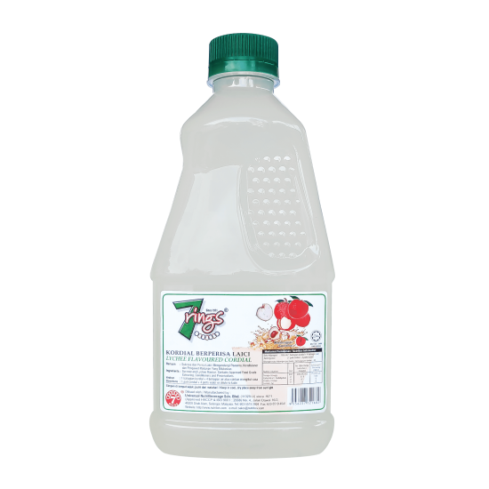 7 Rings 1L Lychee Flavoured Cordial
