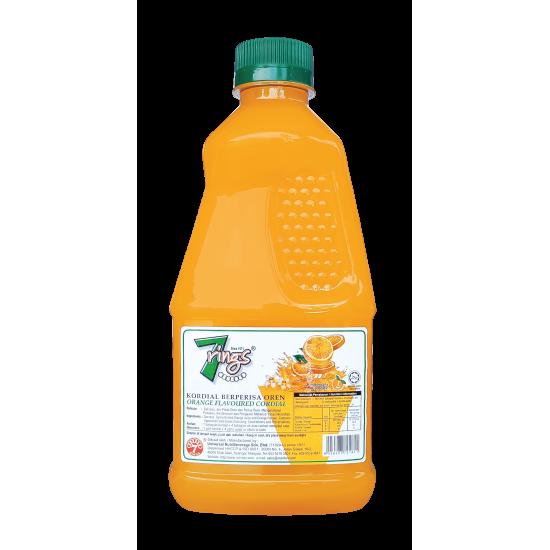 7 Rings 1L Orange Flavoured Cordial