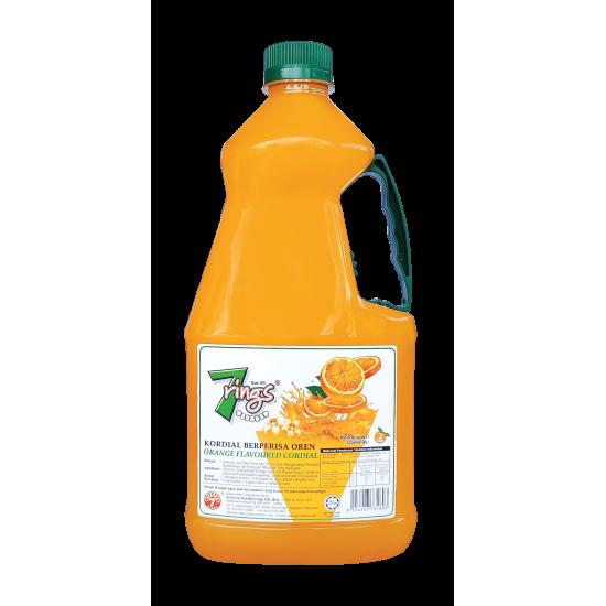7 Rings 2L Orange Flavoured Cordial