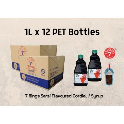 12Bottles 7 Rings 1L Sarsi Flavoured Cordial