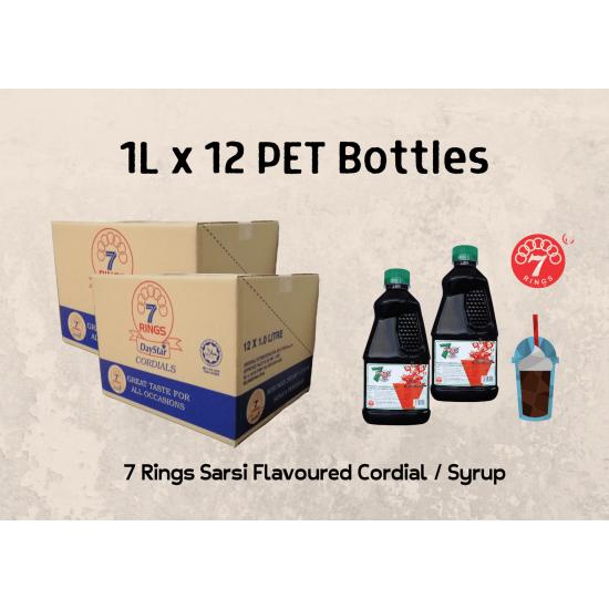 12Bottles 7 Rings 1L Sarsi Flavoured Cordial