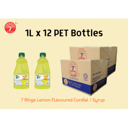 12Bottles 7 Rings 1L Lemon Flavoured Cordial