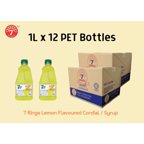 12Bottles 7 Rings 1L Lemon Flavoured Cordial