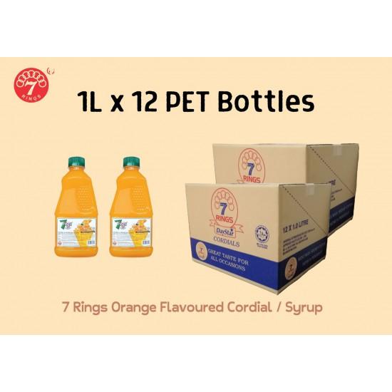 12Bottles 7 Rings 1L Orange Flavoured Cordial
