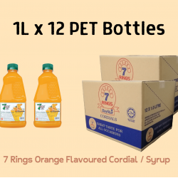 12Bottles 7 Rings 1L Orange Flavoured Cordial