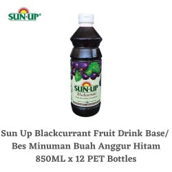 12Bottles Sun Up Blackcurrant Fruit Drink Base concentrate