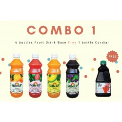 Combo 1 (4 bottles fruit drink base concentrate)