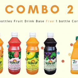 Combo 2 (4 bottles fruit drink base concentrate)