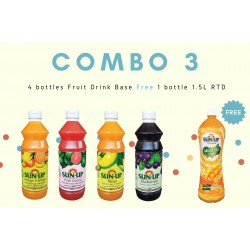 Combo 3 (4 bottles fruit drink base concentrate)