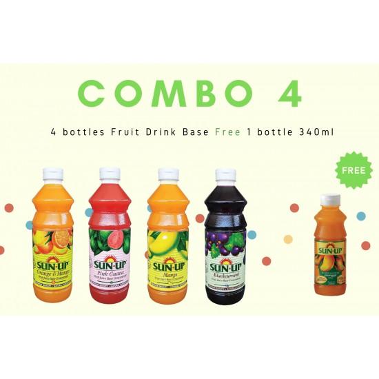 Combo 4 (4 bottles fruit drink base concentrate)