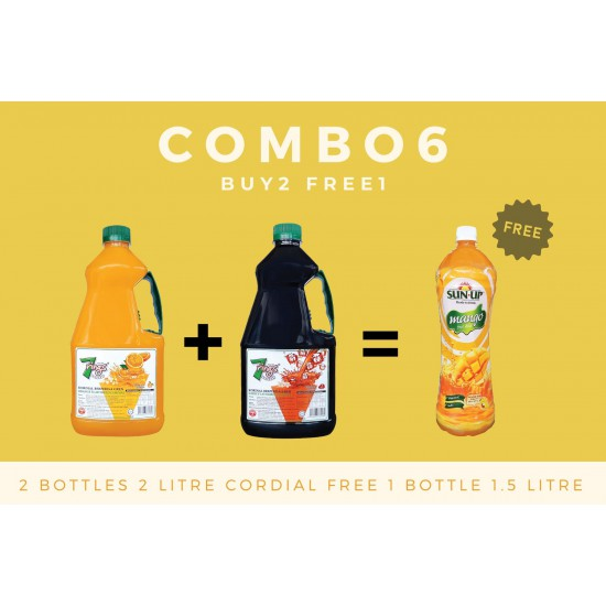 Combo 6 (2 bottles 7 Rings 2L Flavoured Cordial)