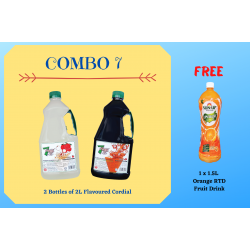 Combo 7 (2 bottles 7 Rings 2L Flavoured Cordial)