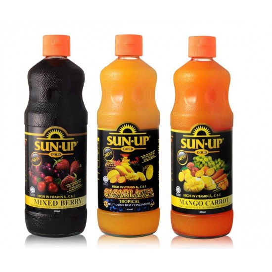 Sun Up Gold 850ml Mixed Berry Mixed Fruit and Vegetable Drink Base Concentrate