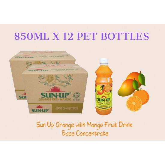 12Bottles Sun Up Orange with Mango Fruit Drink Base concentrate