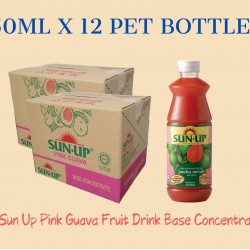 12Bottles Sun Up Pink Guava Fruit Drink Base concentrate