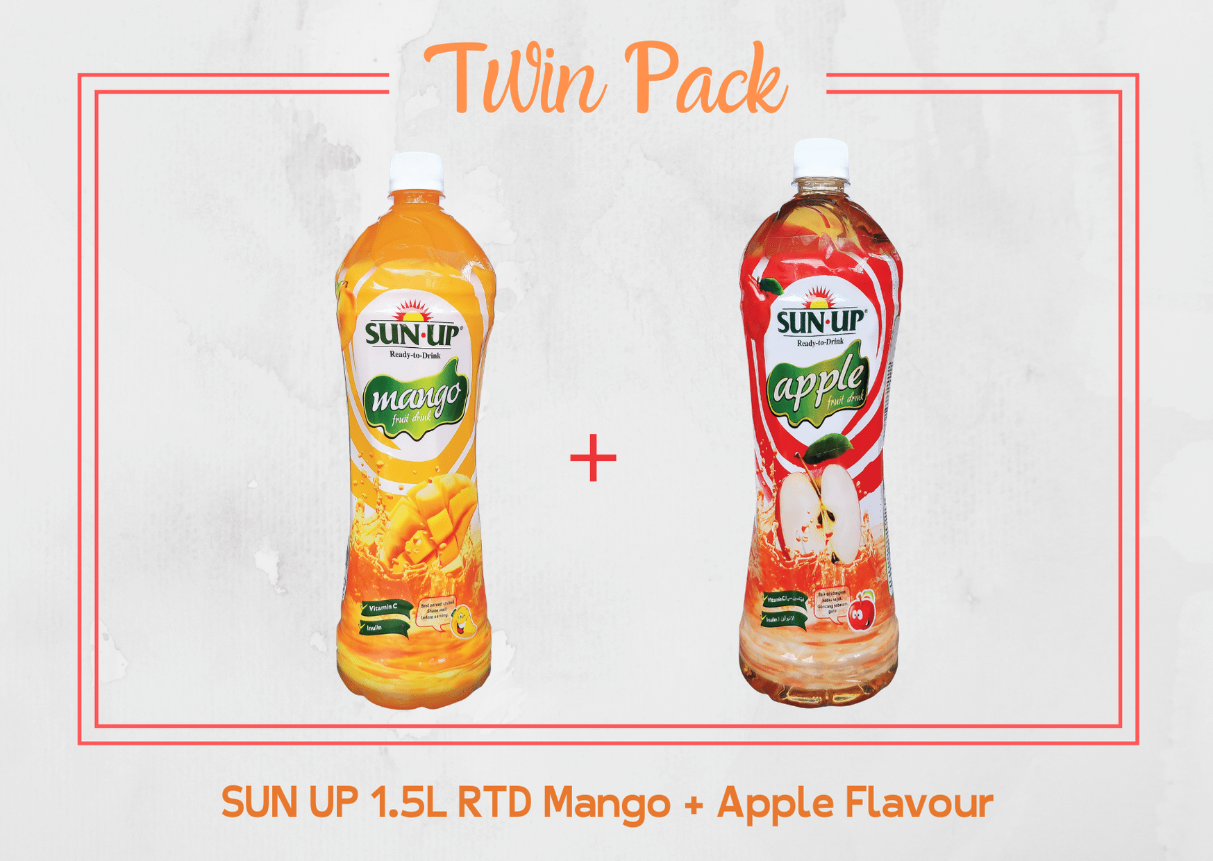 Promo Pack Sun Up 1.5L RTD (Mango and Apple Flavour)