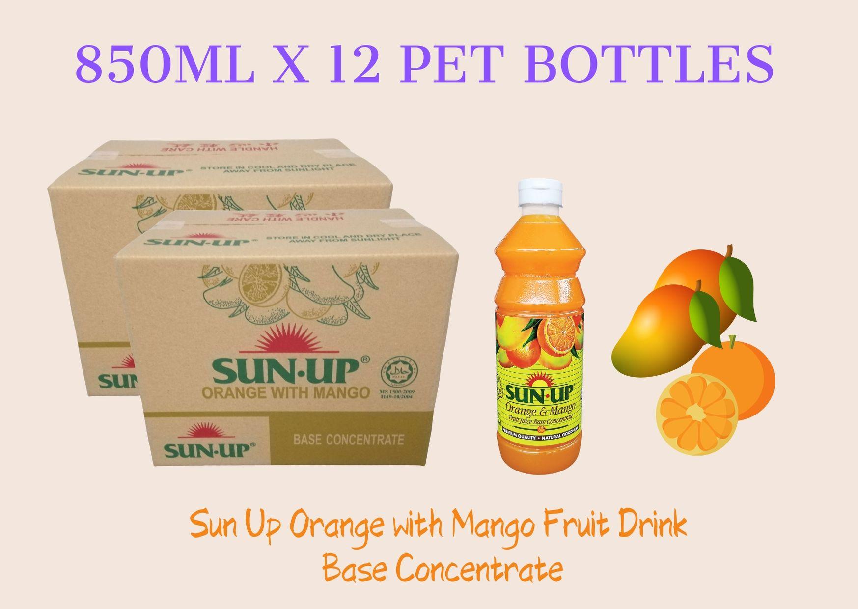 12Bottles Sun Up Orange with Mango Fruit Drink Base concentrate